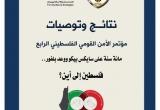 نتائج وتوصيات مؤتمر الأمن القومي الفلسطيني الرابع
